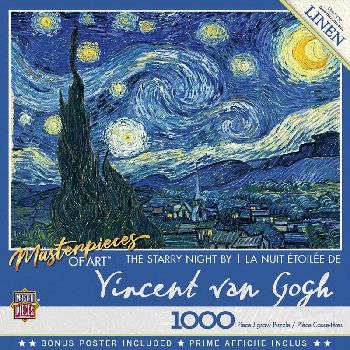 Starry Night Masterpieces Puzzle (1000 piece)
