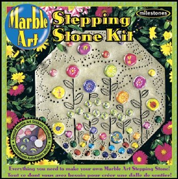 Kid's Marble Art Stepping Stone Kit