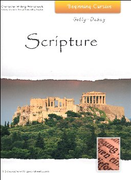 Scripture Character Writing Worksheets Getty Dubay Italic Beginning Cursive