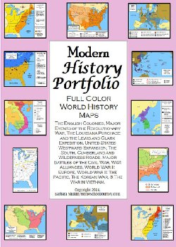 Modern History Portfolio Full Color Maps