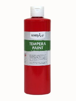 Red Tempera Paint 16 oz.