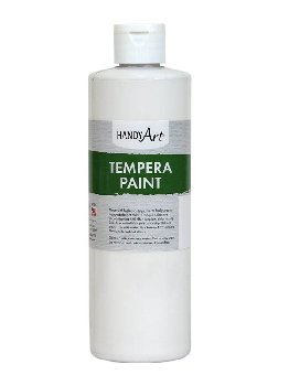 White Tempera Paint 16 oz.