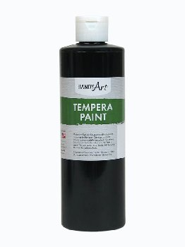 Black Tempera Paint 16 oz.