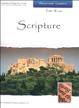 Scripture Character Writing Worksheets Zaner-Bloser Advanced Cursive