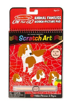 Scratch Art Color-Reveal Pictures - Mosaic Animal Families