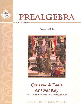 Pre-Algebra Quizzes & Tests Answer Key