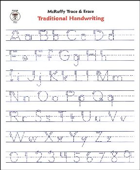 Trace & Erase Alphabet Handwriting Sheets: Traditional