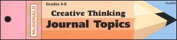 Creative Thinking Journal Booklet Gr. 4-8
