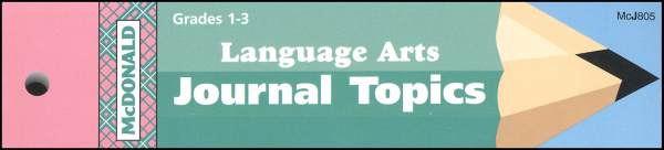 Language Arts Grades 1-3 Journal Booklet