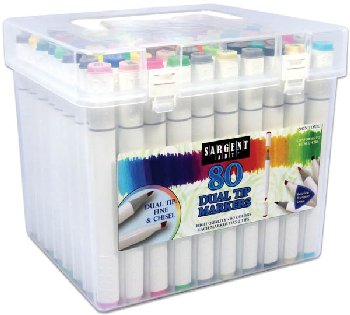 Dual Tip Triangular Marker Set (80 count)