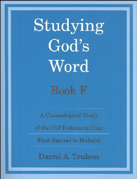 Studying God's Word Book F Student Worktext