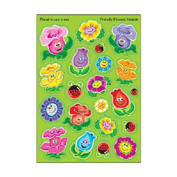 Scratch 'n Sniff Stinky Stickers - Friendly Flowers