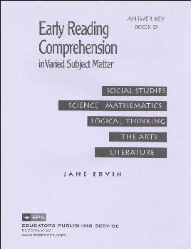 Early Reading Comprehension Bk D Teacher Key