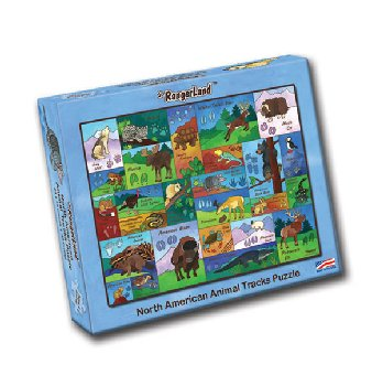 North American Animal Tracks Puzzle (48 pcs)