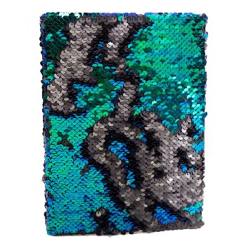 Iridescent Black Sequin Journal