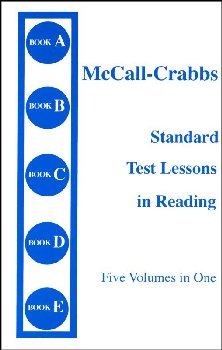 McCall-Crabbs Standard Test Lessons in Reading A-E Combined Volume
