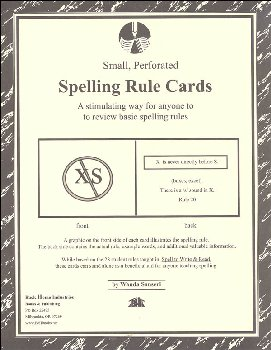 Spell to Write and Read - Spelling Rule Cards