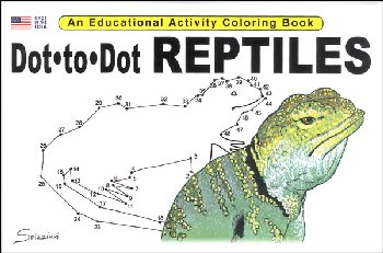 Dot-to-Dot Reptiles Activity Book