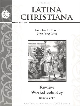 Latina Christiana Review Worksheets Teacher Key (4th Edition)