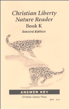 Nature Reader Book K Answer Key Second Edition