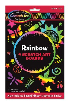 Scratch Magic Rainbow Black