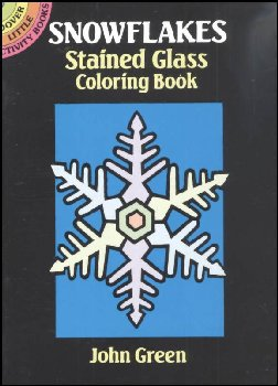 Snowflakes Little Stained Glass Coloring Book