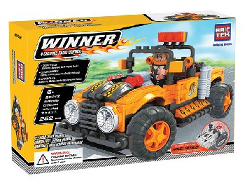 Radio Controlled Off-Road Truck Orange (252 Pieces)