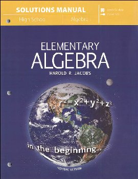 Elementary Algebra (Jacobs) Solutions Manual
