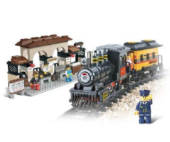 Polar Pioneer - Railway Station (301 Pieces) (Sluban Building Set)