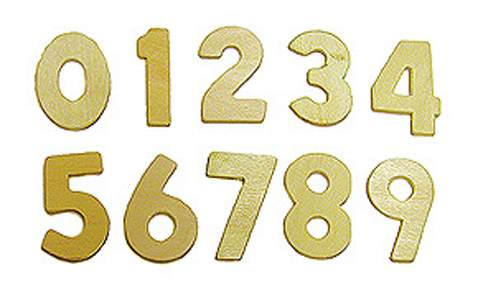 Wood Numbers Set 1""