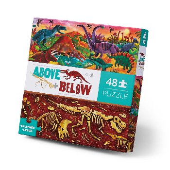 Above + Below Puzzle - Dinosaur World (48 pieces)