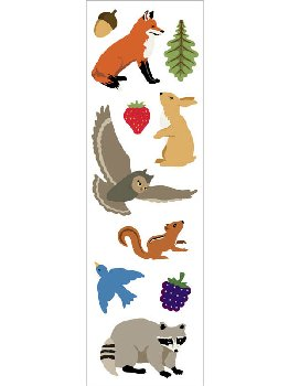 Forest Animal Stickers - 1 package (3 sheets)