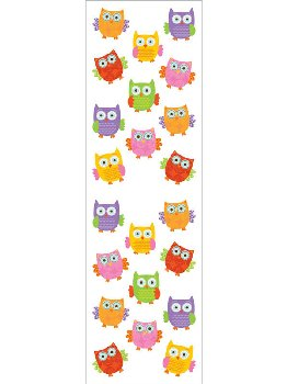 Forest Owls, Small Stickers - 1 package (3 sheets)
