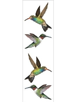 Hummingbirds Stickers - 1 package (3 Sheets)