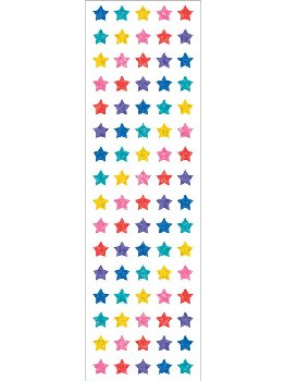 Multi Micro Sparkle Star Stickers (2 sheets)