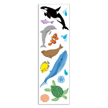 Ocean Life Stickers - 1 package (3 sheets)