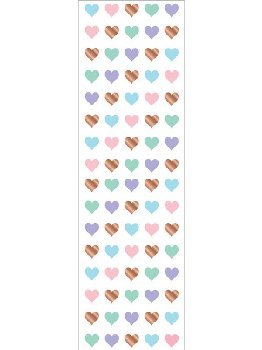 Rose Gold Micro Heart Stickers (2 sheets)