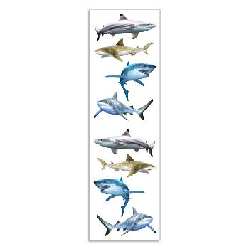 Shark World Stickers - 1 package (3 Sheets)