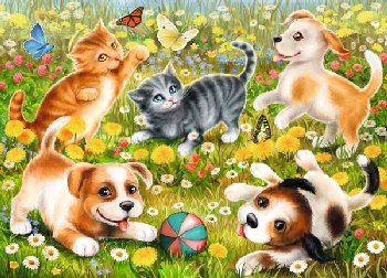 Cats & Dogs Puzzle (60 pieces)