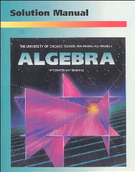 UCSMP Algebra Solution Manual