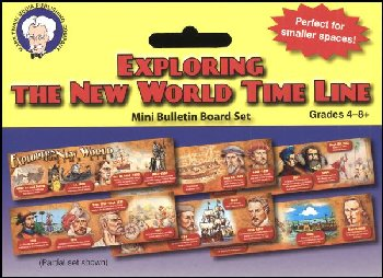 Exploring the New World Time Line Mini Bulletin Board Set