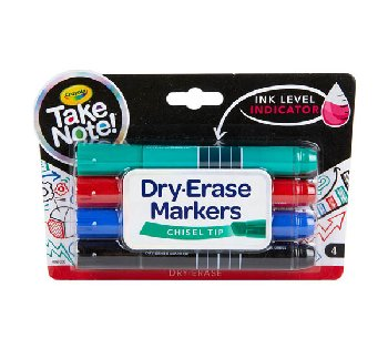 Crayola Take Note! Broad Line Dry Erase Markers (4 count)