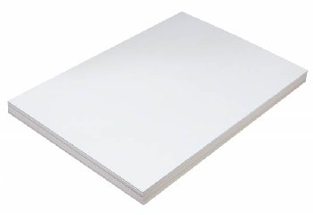 "Tag Stock 125# - 12"" x 18"" (100 Sheets, White)"