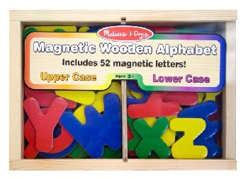 Magnetic Wooden Letters (52 pcs)