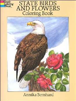 State Birds & Flowers Coloring Book