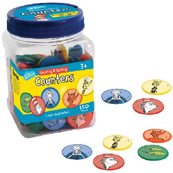 Dr. Seuss Counters (5 assorted colors) 150 pieces