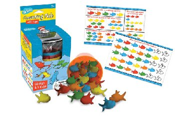 Dr. Seuss Counting Fish with Cups (50 Fish & 5 Cups)