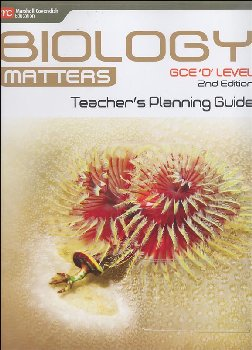Biology Matters Teachers Planning Guide