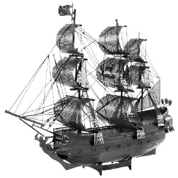 Black Pearl ICONX 3D Metal Model Kit (Black version)