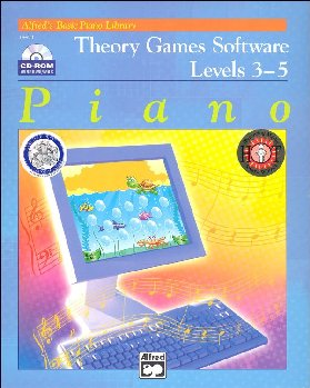 Alfred's Basic Piano Library Music Theory Games Levels 3-5 CD-ROM